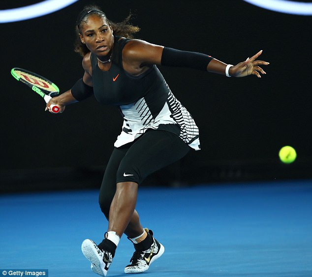 A force: Williams, pictured during the Women's Singles Final against Venus at the Australian Open on January 28, is one of the most sucessful athletes in the world