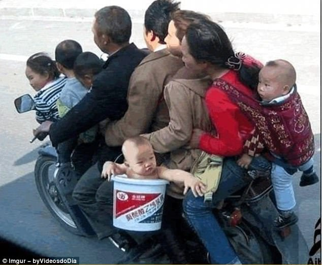 Need a lift? He's already crammed eight humans onto his moped, but there's always room for more
