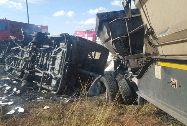 At least 17 school children were killed when the minibus they were travelling in crashed into a truck and exploded into a ball of fire in Mpumalanga province