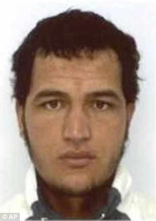 Tunisian national Anis Amri (pictured) drove a truck into a Christmas market in Berlin