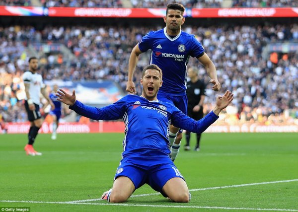 Chelsea 4-2 Tottenham: Hazard fires Blues into final ...