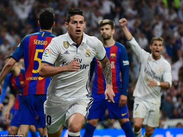 It looked like substitute James Rodriguez had come on to rescue a point for Zinedine Zidane's side with five minutes to go