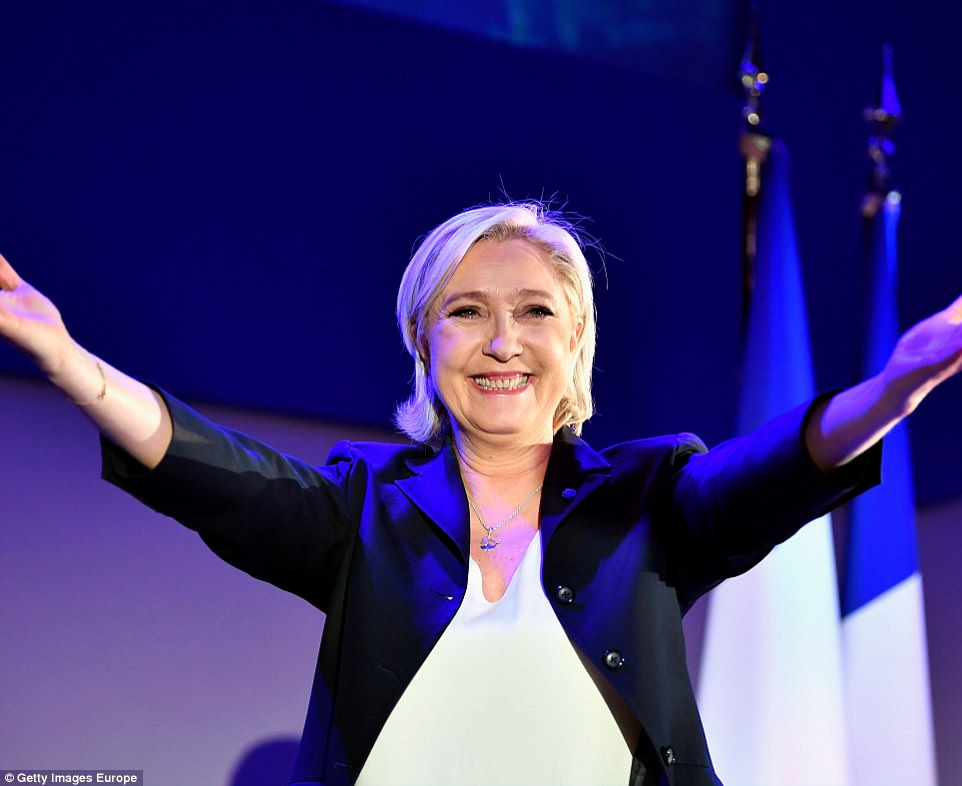 Le Pen went to greet her supporters after the initial results and said: ''This is a historic result. The French must take the step for this historic opportunity. This is the first step to drive the French [people] into the Elysee Palace'