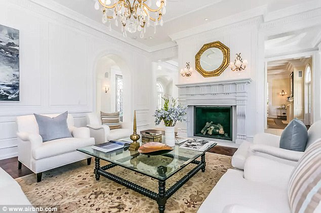 Tasteful: The home is beautifully decorated in light colors with gold and marble accents