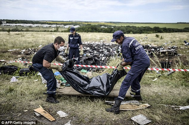 In total 298 people died in the air disaster in 2014. It is thought Russian-backed militants fired at the aircraft, thinking it was a Ukrainian military plane