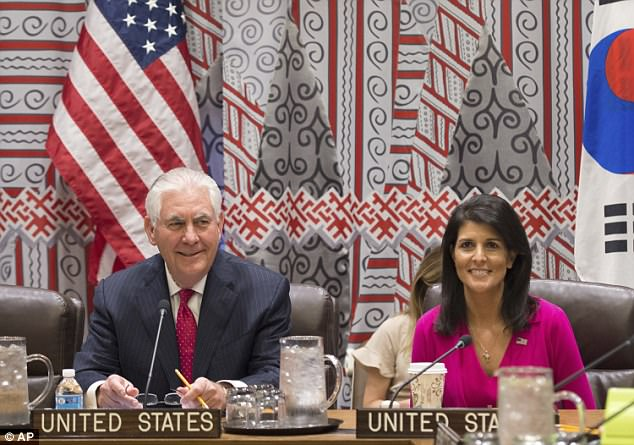 Image result for photos of rex tillerson at the un