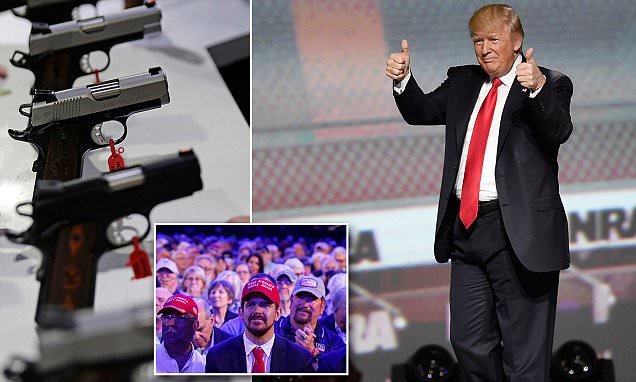 Hero's welcome for Trump from National Rifle Association