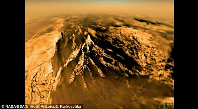 Titan's dunes are gigantic, reaching, on average, 0.6 to 1.2 miles (1 to 2 kilometers) wide, hundreds of miles (kilometers) long and around 300 feet (100 meters) high