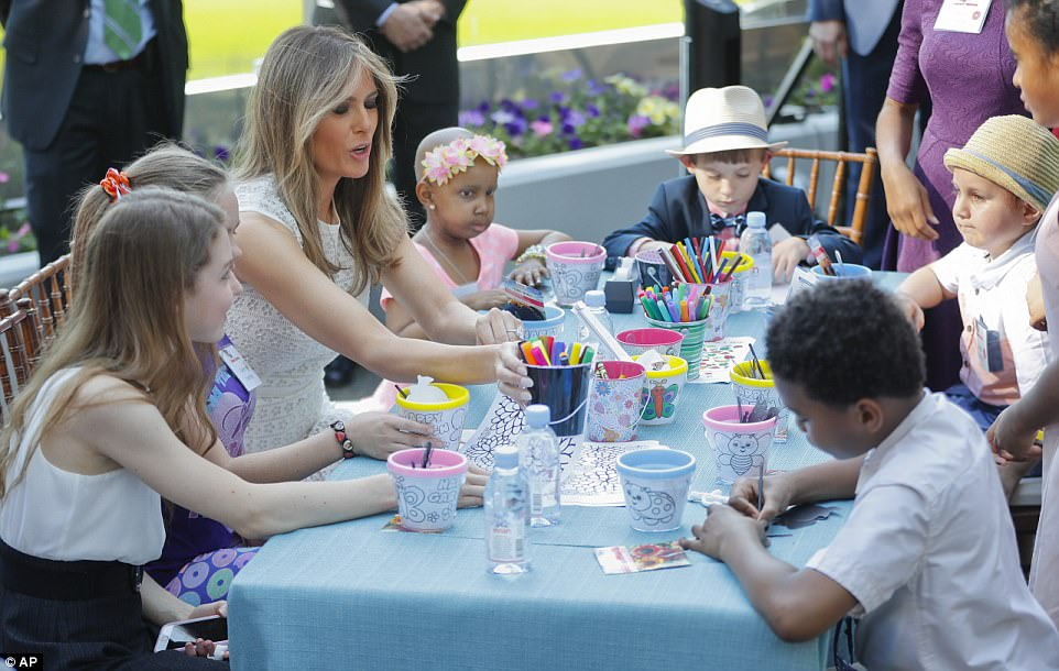 First Lady Melania Trump dedicated a new garden for patients at one of America's leading children's hospitals on Friday