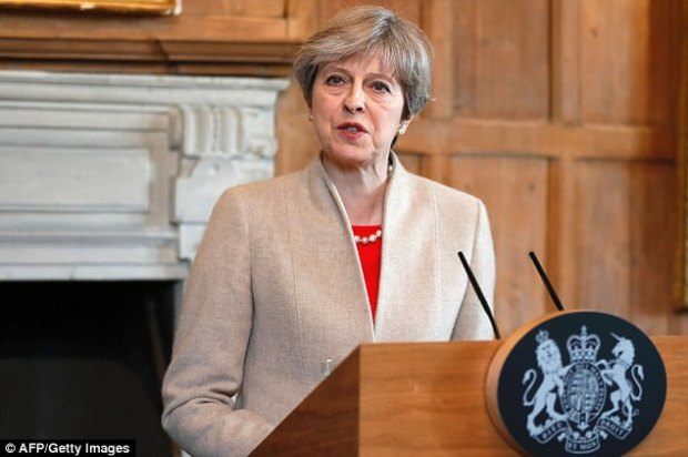 Theresa May hit back at the German Chancellor on Friday (pictured) as she complained the rest of the EU was lining up in opposition to Britain