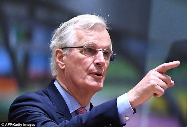 The guidelines agreed today set the rules by which chief negotiator Michel Barnier (pictured at today's EU Council) will tackle the detailed talks