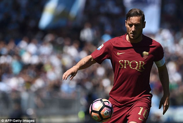 The derby was likely to be the last one for Roma club legend Francesco Totti