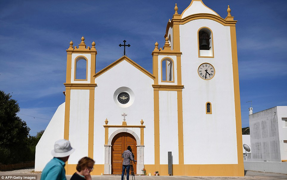 As devout Catholics Kate and Gerry remember their daughter at the large imposing 14th century church, 1,617 miles away in the pretty seaside resort of Luz locals will be praying too