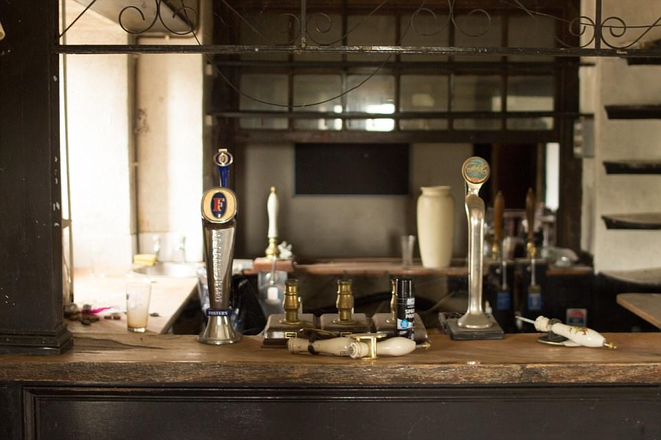 Photos taken of the interior during the renovation show only two of the bar's taps standing. The pub is in the process of being refurbished in a bid to make it back to its former glory
