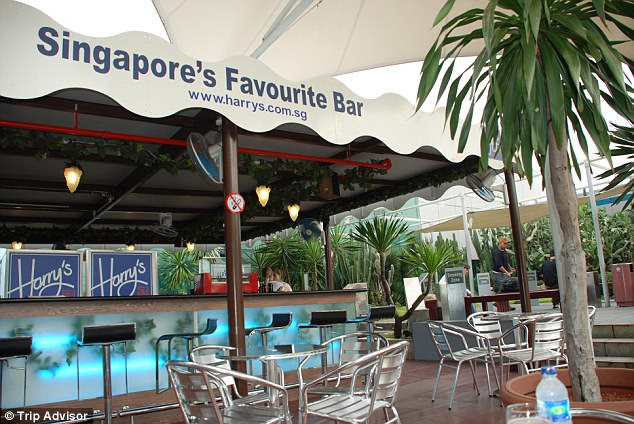 Cocktail hour: Harry's bar at Singapore Changi Airport is located on the roof of Terminal 1