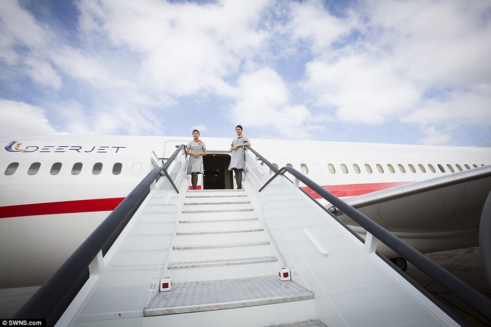 Slightly better than Easyjet, then: The converted commercial carrier was re-fashioned at a cost of £223million
