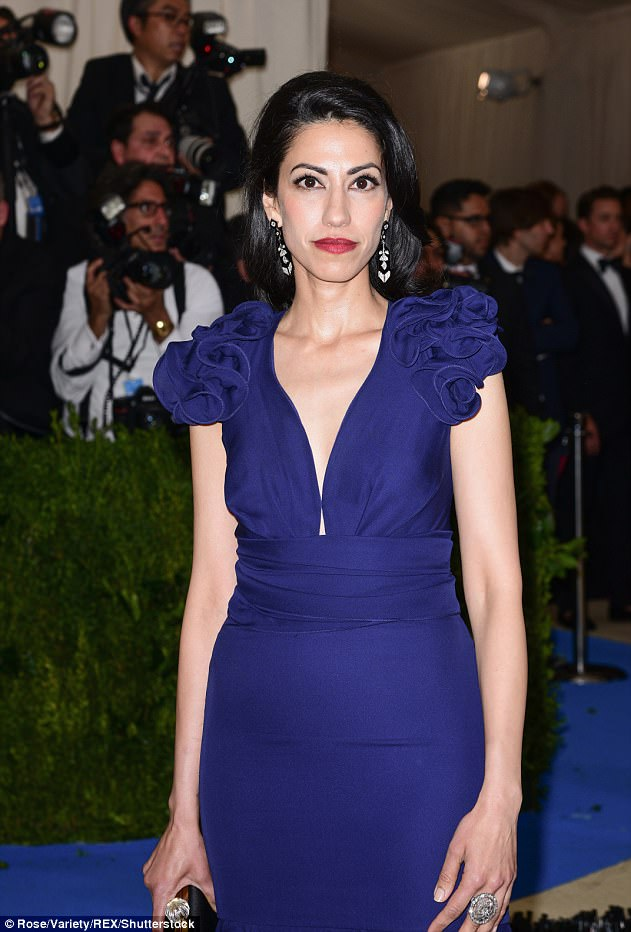 Huma Abedin The Costume Institute Benefit celebrating the opening of Rei Kawakubo/Comme des Garcons: Art of the In-Between, Arrivals, The Metropolitan Museum of Art