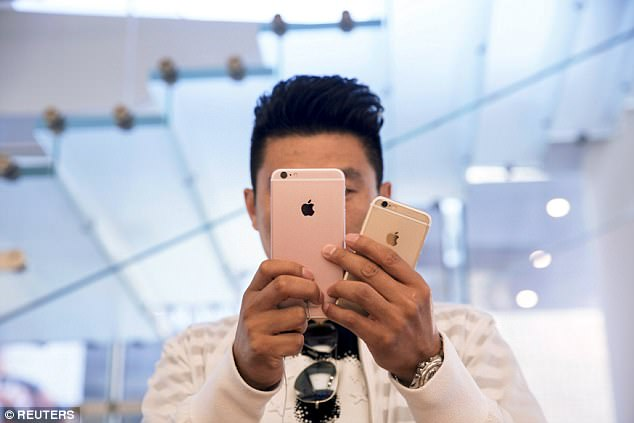 In its ongoing battle with Apple, Qualcomm could soon seek a ban on iPhones (pictured are the iPhone 6 and 6s) being imported to the US from Asia just months before the highly anticipated iPhone 8 is set to be released