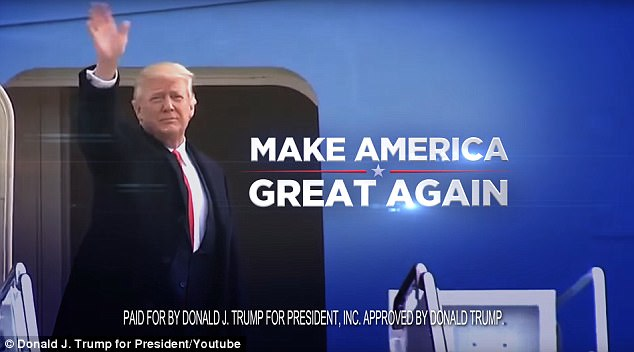 The ad has all the hallmarks of an early campaign push, including Trump's ubiquitous slogan
