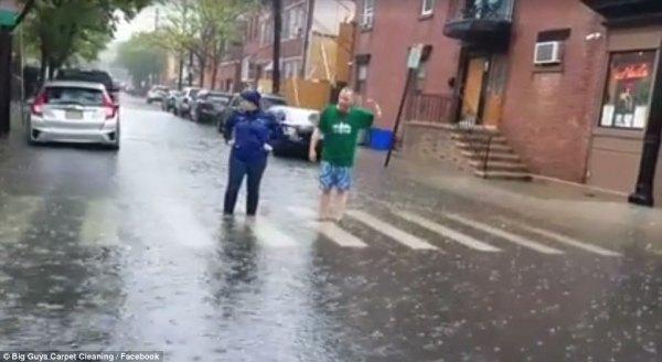 Heavy rains in New York area produce flash floods | Daily ...