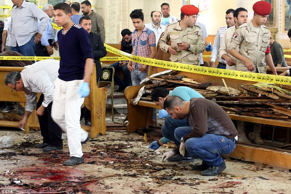 Three church bombings since December, in Cairo, Tanta (pictured) and Alexandria, have claimed about 70 lives and have had a traumatic effect on the Coptic minority