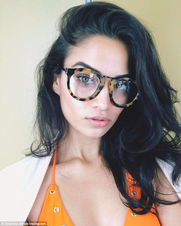 Specs appeal! Shanina Shaik stuns in sexy tortoiseshell glasses after she posted THAT revealing 'belfie' shot