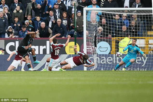 Rondon's right-footed strike was struck with power and Tom Heaton couldn't save it