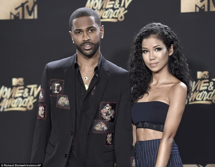 Power couple: Love birds Big Sean and Jhene Aiko arrived in coordinating looks; the rapper performed during the show