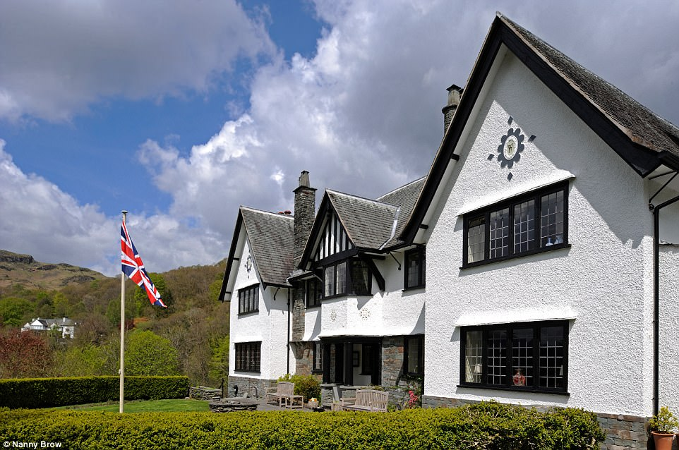 Country retreat: Revealed exclusively to MailOnline Travel, Nanny Brow in Ambleside has been named as England's top bed and breakfast by the AA
