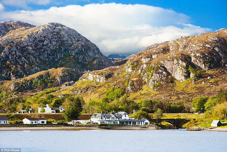 Flying the flag for Scotland is Pool House in the small village of Poolewe in the north west Highlands