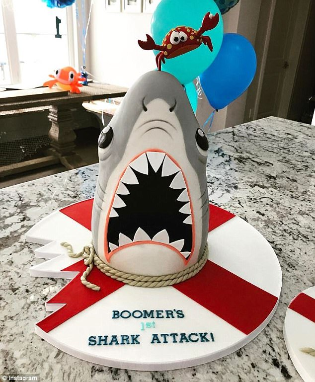 Michael Phelps Throws Shark Attack Themed Party For Son