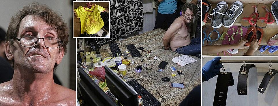 Inside the home of 'predator who filmed abuse of children'
