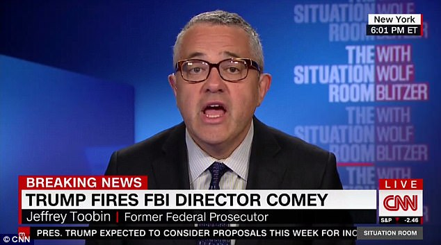 Jeffrey Toobin, a commentator for CNN, condemned Trump's 'grotesque abuse of power'