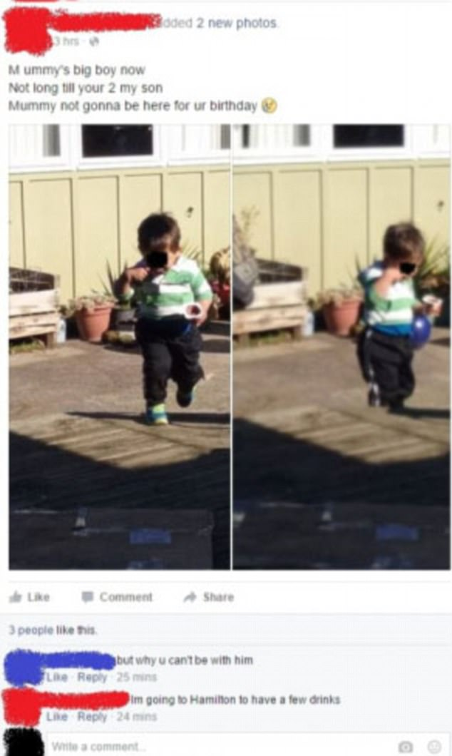 One woman bemoaned not being there for her son's second birthday, and then explained she was skipping the celebrations to go for drinks
