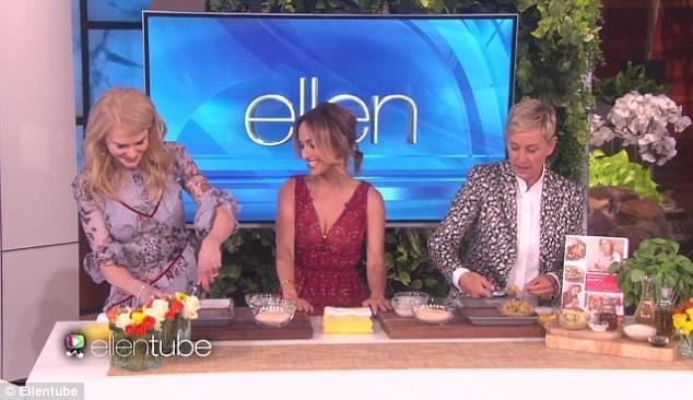 Image result for Giada De Laurentiis Returns to Ellen to 'Redeem' Herself from Awkward Nicole Kidman Cooking Segment