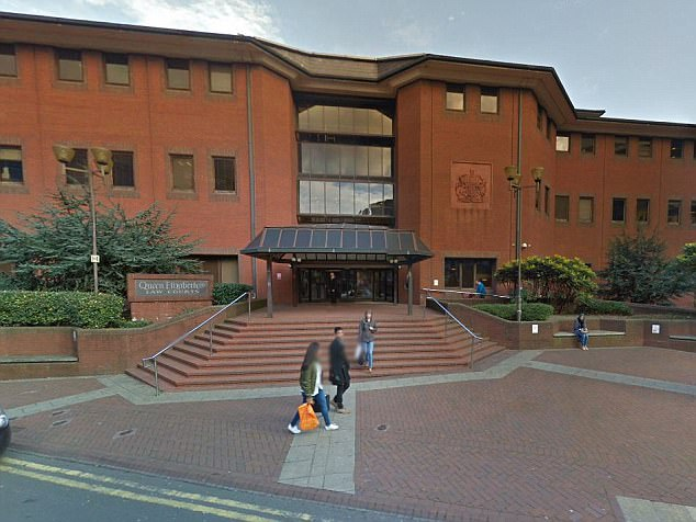 Rooney - who still claims he was trying to prevent a crime - is now facing jail after being found guilty at Birmingham Crown Court (pictured) of harassment