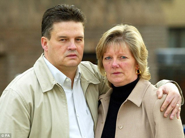 Mr and Mrs Jones, pictured after Campbell was convicted, said they were still heartbroken