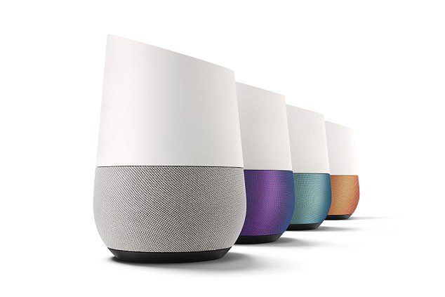 The search giant is set to unveil an iOS app version of its popular Google assistant later this week at its I/O developer conference. The same software powers its Home speaker (pictured)