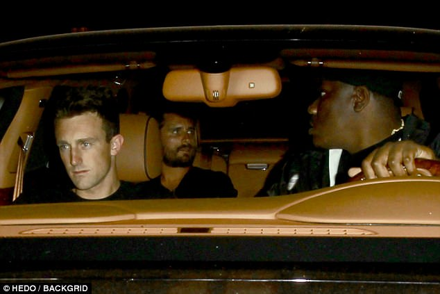New couple? Scott and Bella left at around 1:30 am, the duo sat in the backseat of Scott's chauffeured car