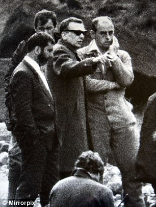 Ian Brady (pictured wearing the glasses) visited the moors in 1986 and was asked to tell police where he had buried the body of murder victim Keith Bennett