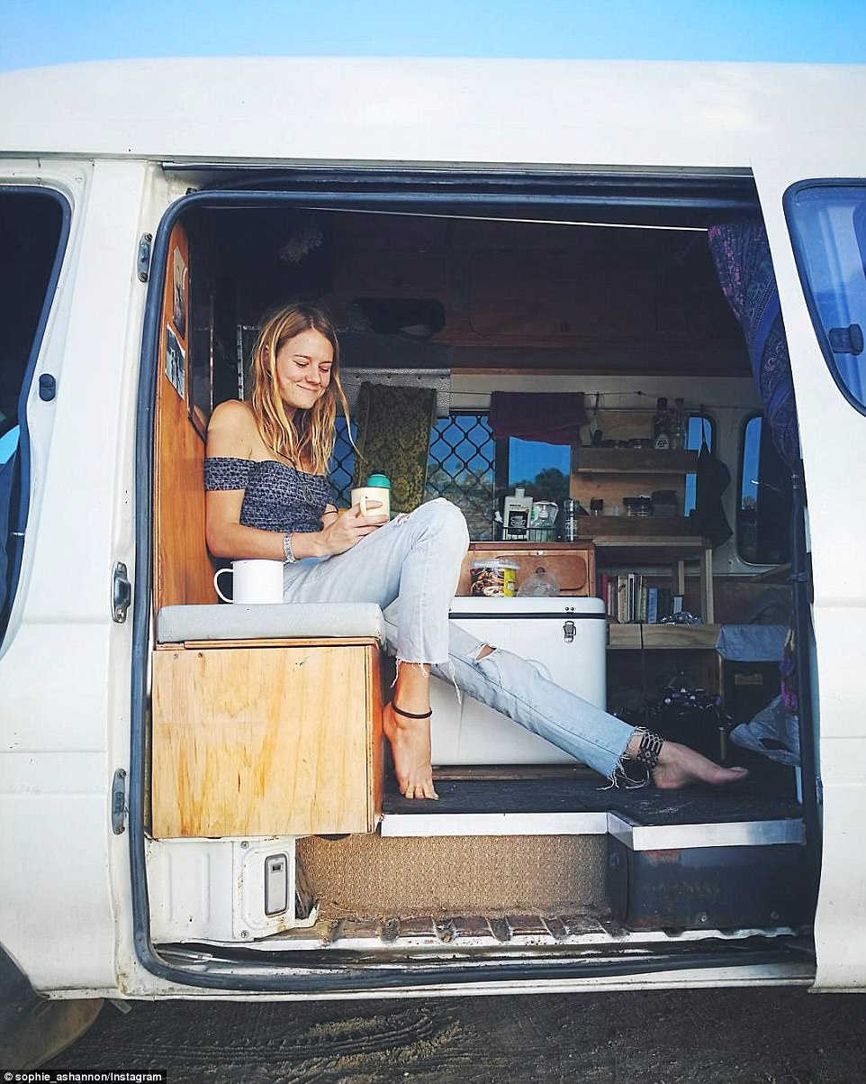 Cheaper than renting: With the property market exploding in Sydney and Melbourne, many young Australians are opting to live a more nomadic lifestyle