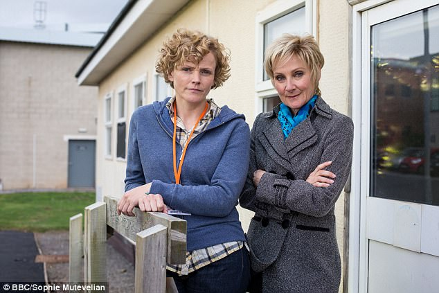 Sara and DC Oliver as portrayed by Maxine Peake and Lesley Sharp, who finally met on the second episode of Three Girls in a dramatic confrontation