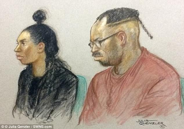 The pair, pictured in a court sketch, were cleared of murder but convicted of causing or allowing the death of their daughter, who was on the child protection register