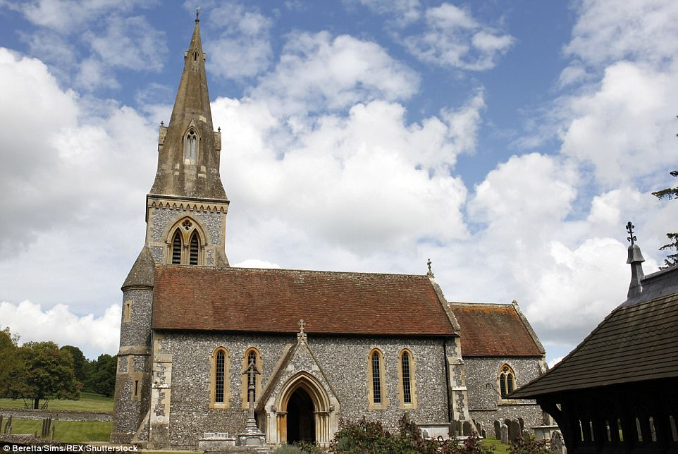 Clouds were spotted lingering over St Mark's Church in Bucklebury, Berkshire, earlier today