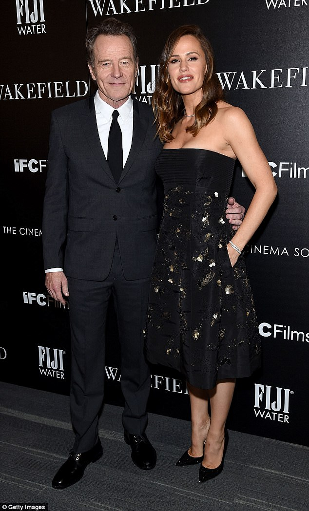 Star power: Bryan Cranston, 61, and Jennifer Garner, 45, were well-outfitted Thursday for the premiere of their drama, Wakefield