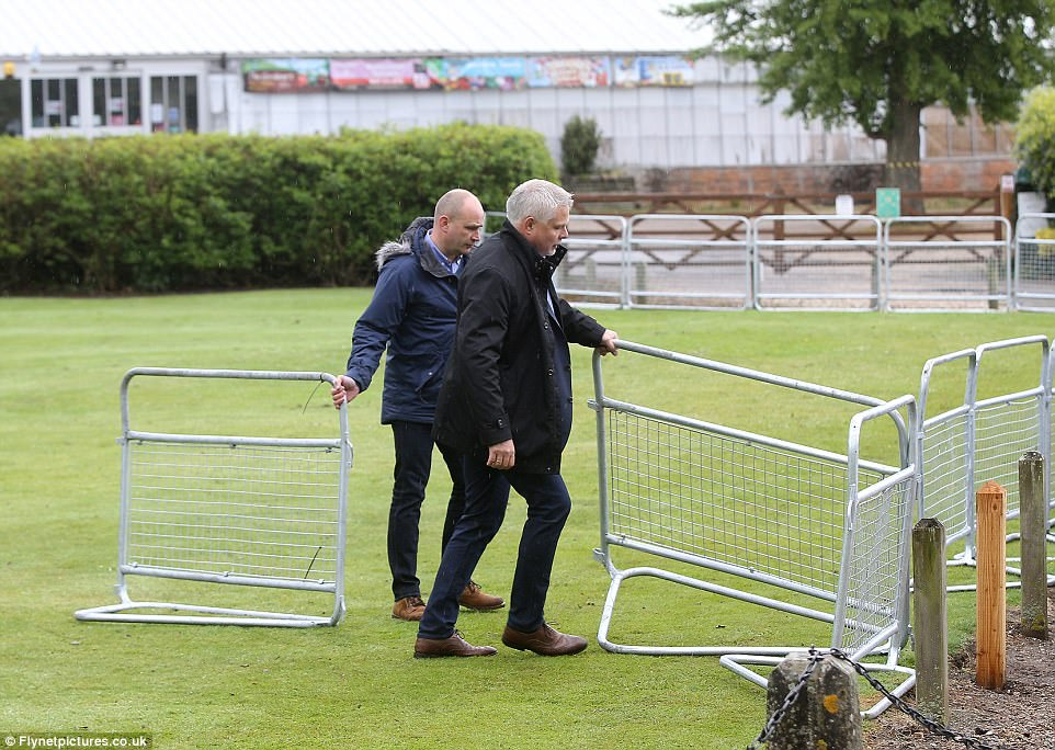 With just 24 hours to go before Pippa Middleton weds James Matthews in St Mark's Church, security arrived on the scene to install metal fencing around the church gardens
