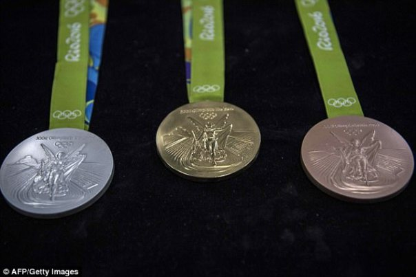 Over 130 medals won at the Rio Olympics have been returned to the organisers as they've begun to rust or developed black spots on them