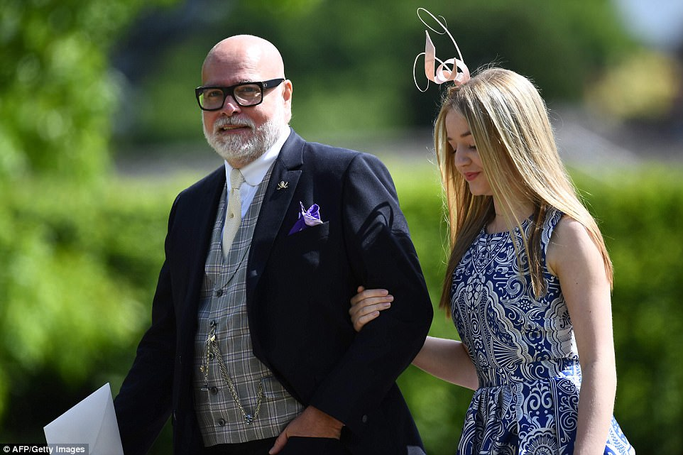 Gary Goldsmith, uncle of the bride, attends the wedding of Pippa Middleton and James Matthews at St Mark's Church in Englefield, with his stunning daughter Tallulah, 14