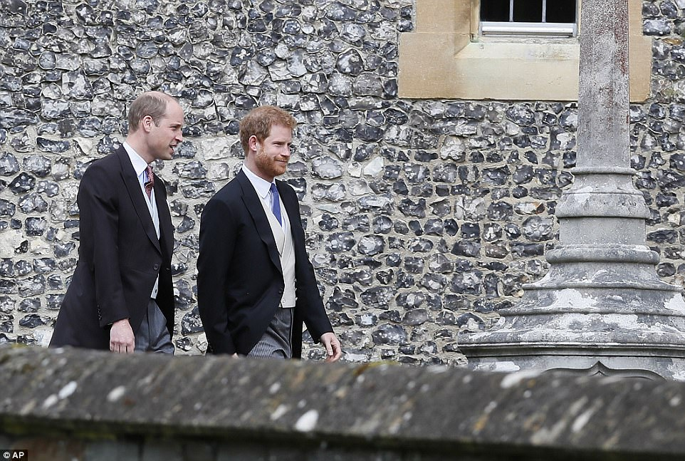 The princes arrived together but Meghan wasn't on the arm of her red-headed Prince despite landing in the country on Tuesday