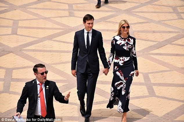 Jared Kushner and Ivanka Trump were both seen arriving in the Middle East on Trump's first foreign tour since taking office